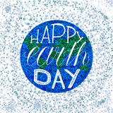 Happy Earth Day Lettering Stock Images