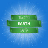 Happy Earth Day paper poster. Vector illustration.  Royalty Free Stock Photo