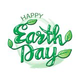 Happy earth day poster. 22 April Stock Image