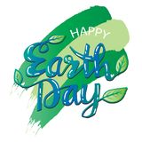 Happy earth day poster. 22 April Stock Photo