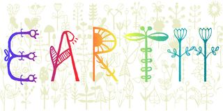 Happy Earth Day Poster or Banner Background, vector illustration