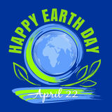 Happy Earth Day poster design. April 22 Royalty Free Stock Images