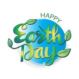 Happy earth day poster. 22 April Stock Photos