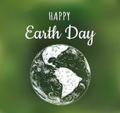 Happy Earth Day poster. Vector illustration earth Royalty Free Stock Image