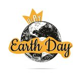 Happy Earth Day poster. Vector illustration earth Royalty Free Stock Photos
