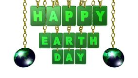 Happy Earth Day tags, video animation stock video footage