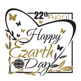 Happy Earth Day. 22 th April. Typographic design Stock Image