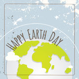 Happy Earth day. Typography, globe illustration vector concept. April 22 world environment background, poster Royalty Free Stock Photography