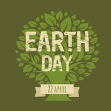 Happy Earth Day. Vector Illustration Royalty Free Stock Photo