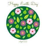 Happy Earth Day. Vector illustration. Royalty Free Stock Images