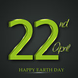 Happy Earth Day. Royalty Free Stock Photography