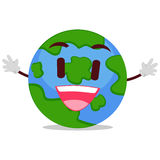 Happy Earth Mascot Royalty Free Stock Images