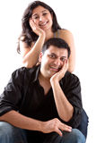 Happy East Indian Husband with his Pregnant wife Royalty Free Stock Images