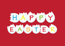 Happy Easter. On red background Stock Image
