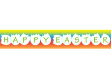 Happy Easter. On colour background Stock Photos