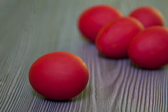Happy Easter. Red easter eggs Royalty Free Stock Photography