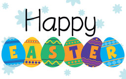 Happy Easter. A scrapbook style Easter Message with background placed on a separate layer stock illustration