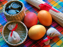 Happy Easter!. Bright easter still life with buttons Royalty Free Stock Photography