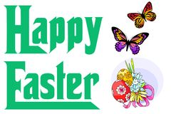 Happy Easter 2 Royalty Free Stock Photos