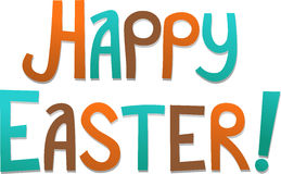Happy Easter. Post card simple Royalty Free Stock Image