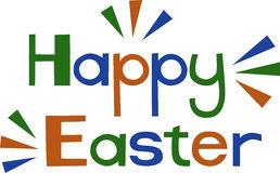 Happy Easter. Post card simple Royalty Free Stock Photos