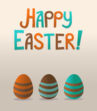 Happy Easter. Post card simple Royalty Free Stock Photo