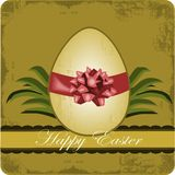 Happy Easter. Illustration of easter egg with old style background Stock Image