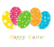 Happy Easter. Colorful card for easter day Royalty Free Stock Photography