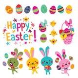 Happy Easter. Design elements set royalty free illustration