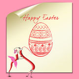 Happy Easter. With eggs and pencils Royalty Free Stock Image