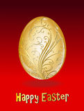 Happy easter. High quality golden easter egg Royalty Free Stock Photos