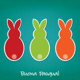 Happy Easter!. Italian Easter Bunny card in vector format royalty free illustration