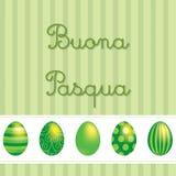 Happy Easter!. Italian vector Easter card design vector illustration