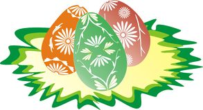 Happy Easter 3. Happy Easter - Eggs - VECTOR ILLUSTRATION Stock Image