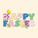 Happy Easter. A colorful pattern for happy easter letters Stock Image