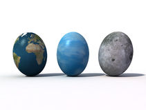 Happy easter. Fantastic view of the Easter eggs Royalty Free Stock Image