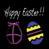 Happy Easter. A design ideal for Easter time stock illustration