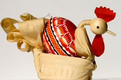 Happy Easter!. Easter. Handmade souvenirs. Cock (straw Royalty Free Stock Images