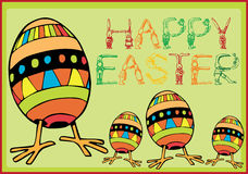 Happy easter. Easter Bunny Illustration with egg Royalty Free Stock Images
