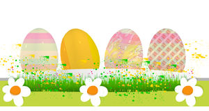 Happy easter. Abstract background  with decoration and flowers and eggs Stock Photography
