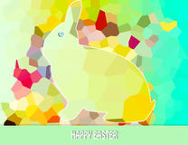 Happy easter. Abstract background  with decoration and rabbit Stock Image