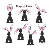 Happy easter abstract postcard background. Stock Photography