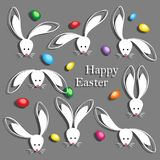 Happy Easter Abstract Postcard Background. Stock Photo