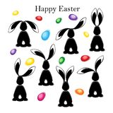 Happy easter abstract postcard background. Stock Image
