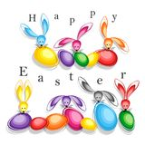 Happy easter abstract postcard background. Vector illustration Stock Images