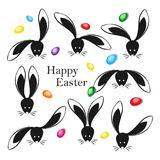 Happy easter abstract postcard background. Vector illustration Royalty Free Stock Photography