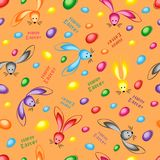 Happy easter abstract seamless background. Vector illustration Stock Photos
