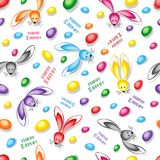 Happy easter abstract seamless background. Vector illustration Royalty Free Stock Image