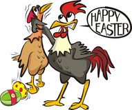 Happy easter - angry cock Royalty Free Stock Photography