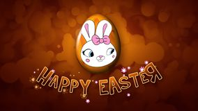 Happy Easter animation title trailer 25 FPS bubbles golden